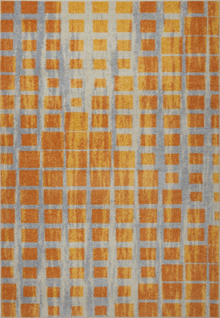 Grand Square Yellow Area Rug - #yellowgold #yellow #grey #shopping #bright #contemporary #geometric #rug