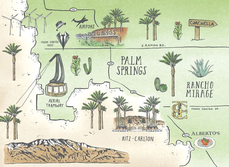 Map of Palm Springs