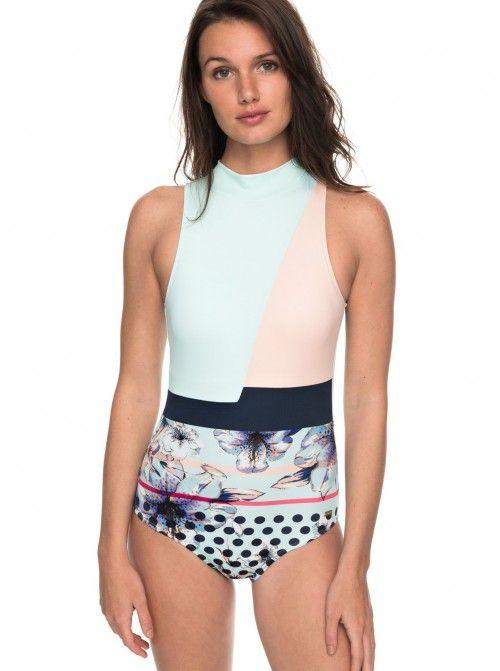 Roxy+Pop+Surf+One+Piece+Swimsuit+Swimwear+ +Clothing