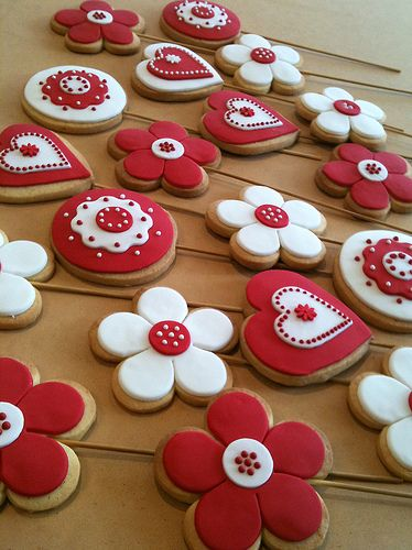 Red and White Christmas - Red White Cookies