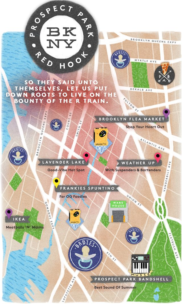 Prospect Park & Red Hook | Brooklyn Hipster Heat Map | Refinery29