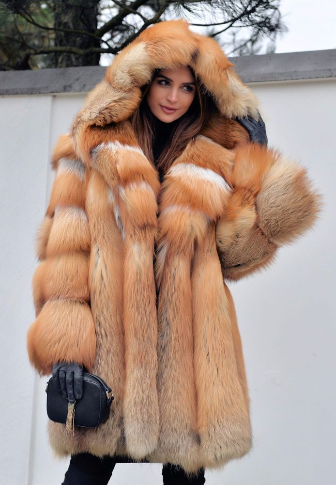 NEW 2017 GOLD FOX FUR COAT HOOD CLAS OF CHINCHILLA SABLE MINK LYNX SILVER JACKET | Clothes, Shoes & Accessories, Women's Clothing, Coats & Jackets | eBay!