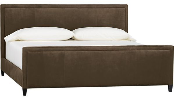 Crate & Barrel Tanner Leather King Bed on shopstyle.com