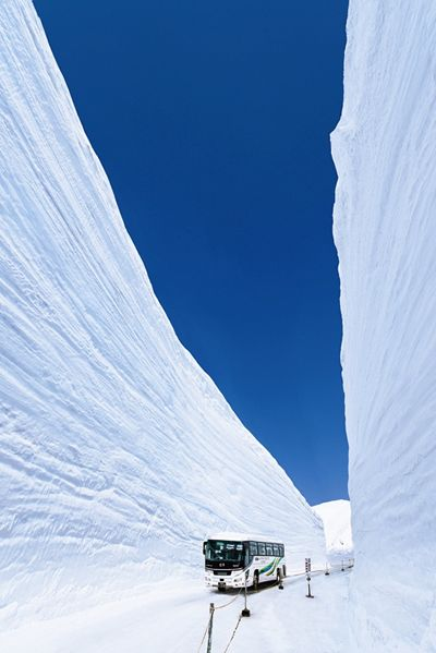 Wall of snow  Tateyama  JAPAN  white is also a colour!