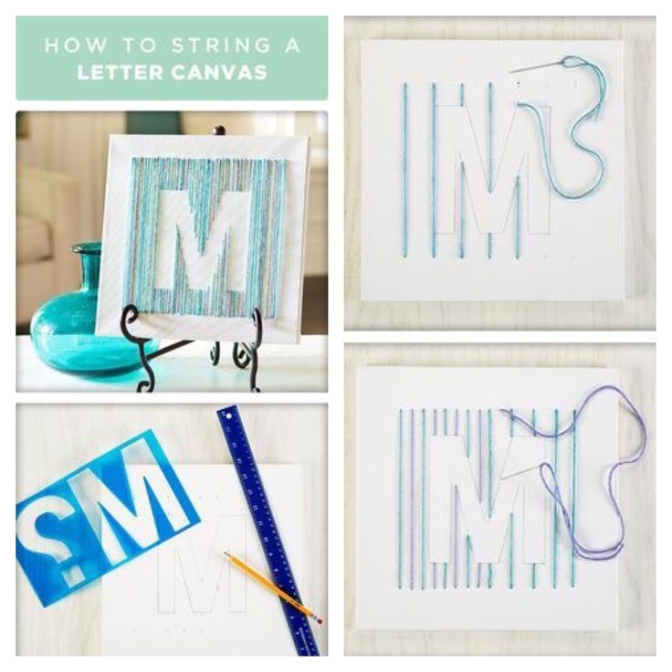 letter canvas string