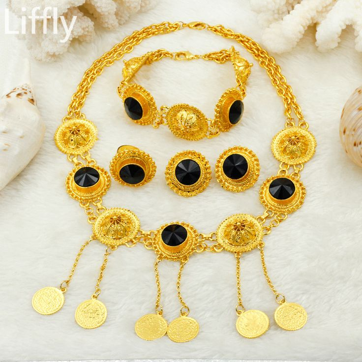 Wholesale Fashion Ethiopian Bridal Women Pendant Necklace Big Zircon Gold Jewelry Accessories African Wedding Party Jewelry Sets. Yesterday's price: US $14.03 (11.60 EUR). Today's price: US $14.03 (11.60 EUR). Discount: 61%.