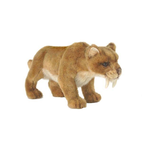 Lifelike Saber Tooth Tiger Stuffed Animal by Hansa