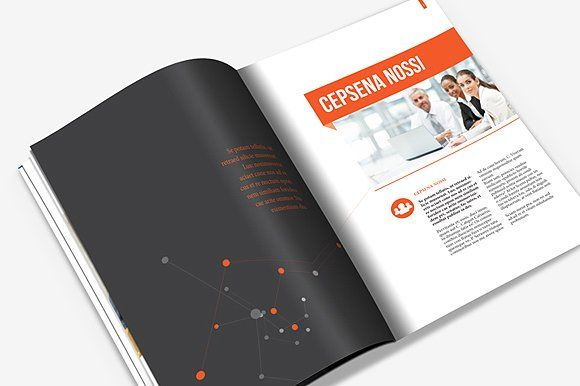 Annual Report & Brochure by Templatepickup on @creativemarket