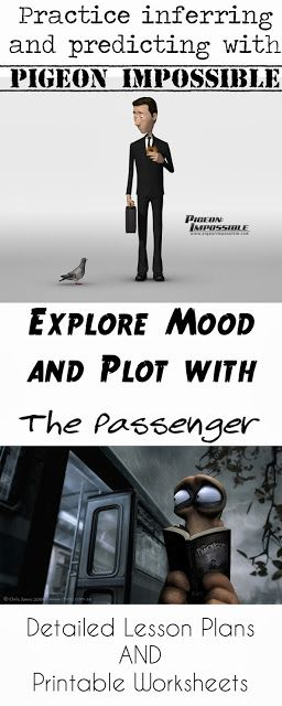 Pigeon Impossible and The Passenger Lesson Plans and worksheets!  Inference, Prediction, Tone, Mood, and Plot.