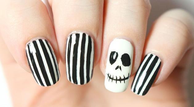 Nail-art d'Halloween – Les étranges ongles de Monsieur Jack