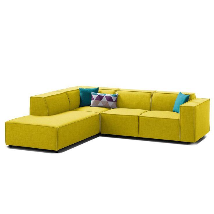Die besten 25+ gelber Ottomane Ideen auf Pinterest Marineblau - wohnzimmer gelb grun