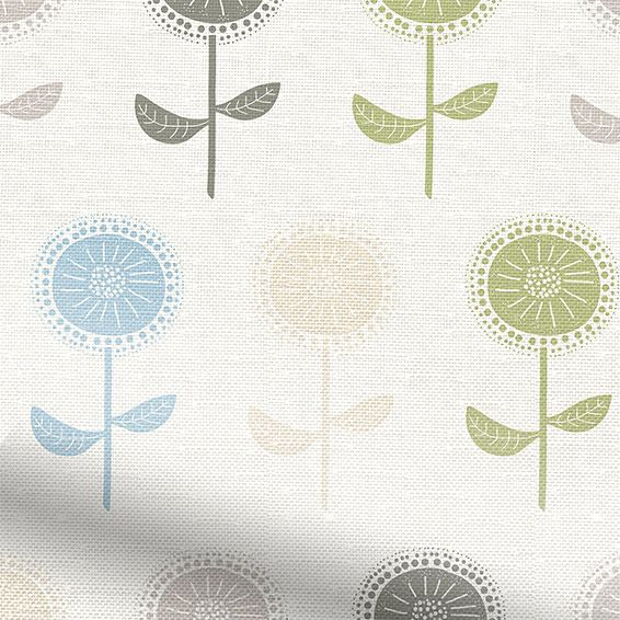 Scandi Blooms Natural Roman Blind from Blinds 2go
