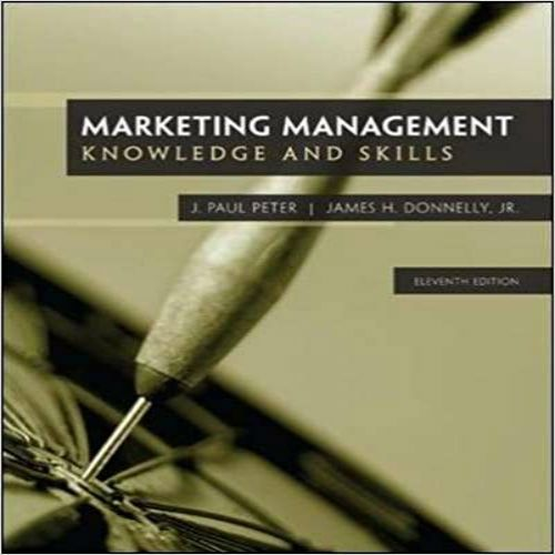 Solution Manual For Marketing Management 11th Edition By