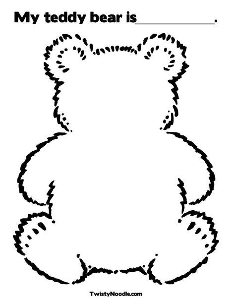 blank teddy bear coloring page - Teddy Bear Picnic Coloring Pages