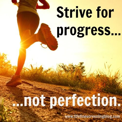 strive for progress not perfection -fitness inspiration quotes