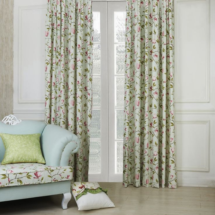 Country Petals and Leaves Eco friendly Curtain   #curtains #decor #homedecor #homeinterior #green
