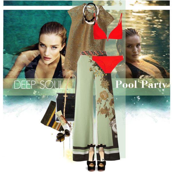 Pool party: Marisol by laste-co on Polyvore featuring moda, Oscar de la Renta, Etro, Zimmermann, Charlotte Olympia, Isaac Mizrahi, Marni, Fekkai, Goody and Pendleton