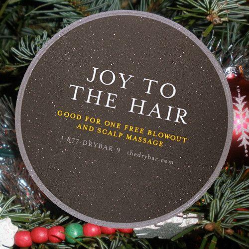 Drybar Gift Coaster - JOY TO THE HAIR