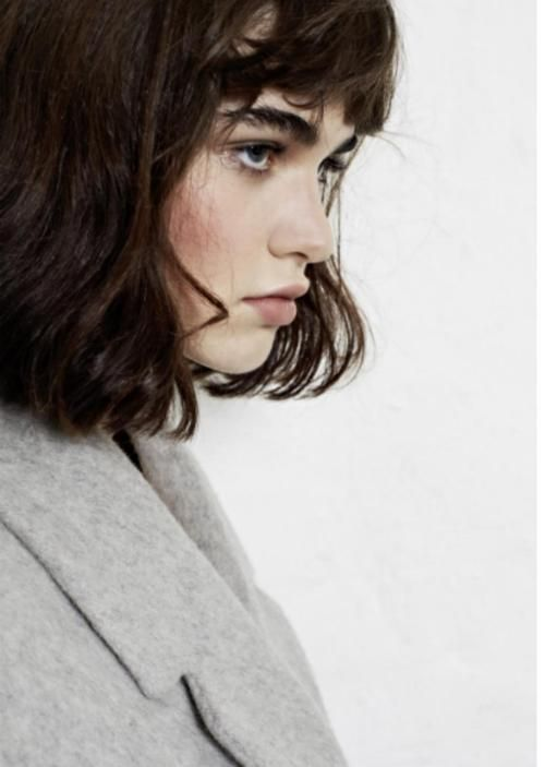 bob, bangs & rosy cheeks #hair #beauty