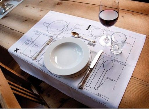 Cheat Sheet Placemat- in case the Queen ever comes over for dinner!