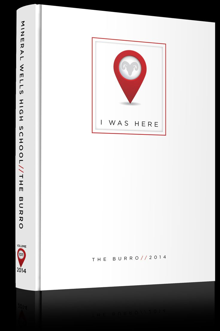 "Yearbook Cover - Mineral Wells High School - ""I Was Here"" Theme - Map, Pin, Location, Google Maps, ""You Are Here"", GPS"