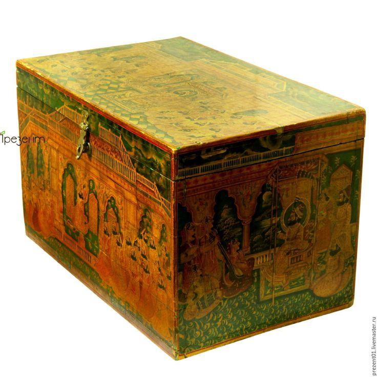 Купить Сундук старинный, арт. 4146 - бежевый, Мебель, ценные породы дерева, мебель из дерева