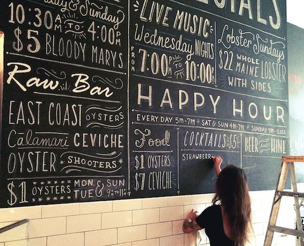 Designer Creates Hand-Lettered Chalkboard Menus In Exchange For Lunch - DesignTAXI.com