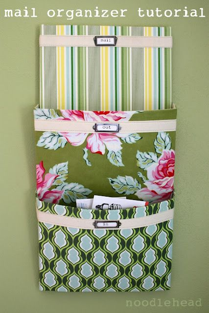 Love that it can be made to match the room.: Kitchens, Diy Mail, Sewing, Projects, Crafts Ideas, Mail Organic, Fabrics, Organizers, Organic Tutorials