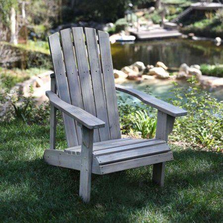 Lakewood Rustic Adirondack Chair - Vintage Gray