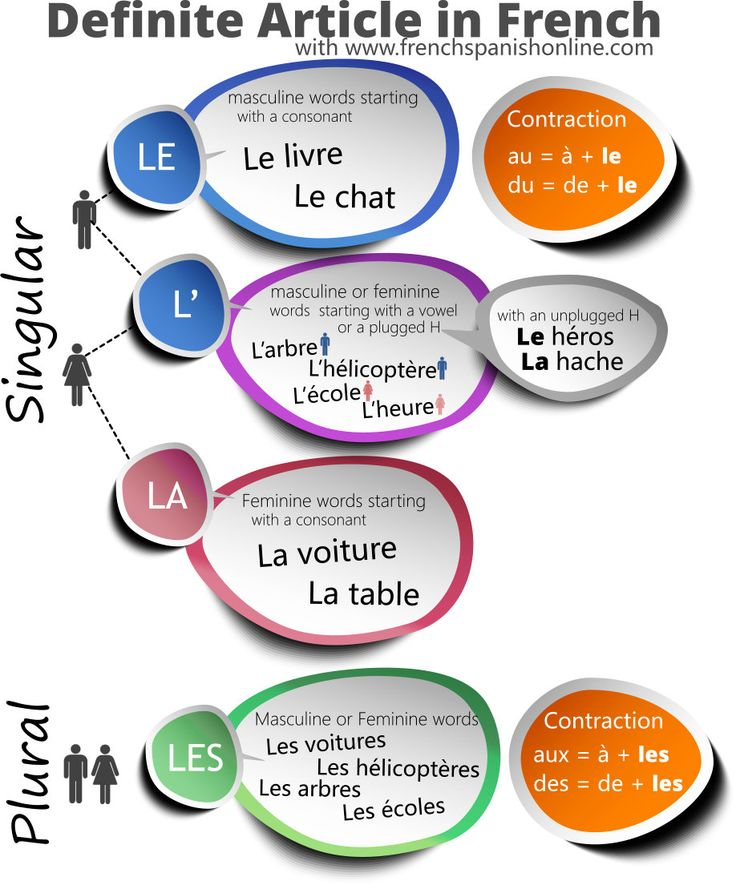 French Definite Articles: how to say THE in French: 4 forms in French http://www.frenchspanishonline.com/magazine/definite-article-in-french/