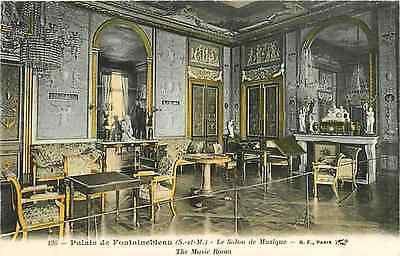 Fontainebleau France 1906 Palace Music Room Collectible Antique Vintage Postcard
