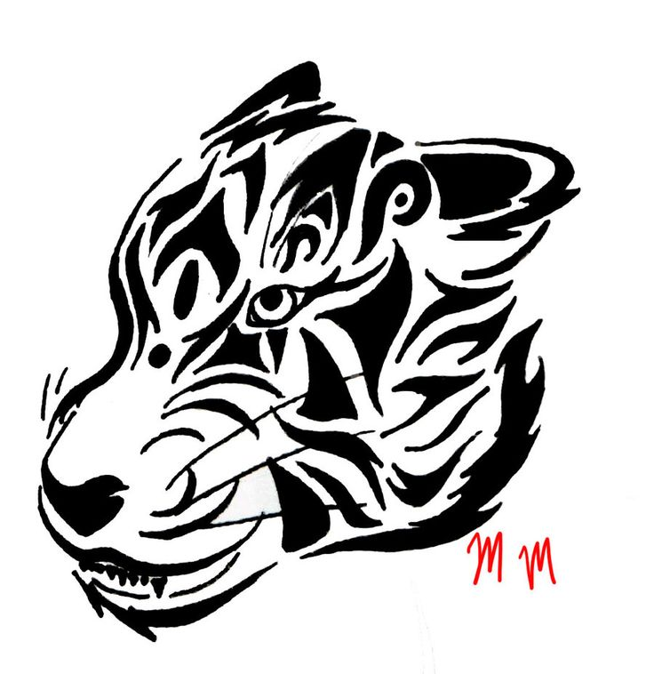 Tribal Tiger By Ruttan On Deviantart: 1000+ Ideas About Tribal Tiger On Pinterest