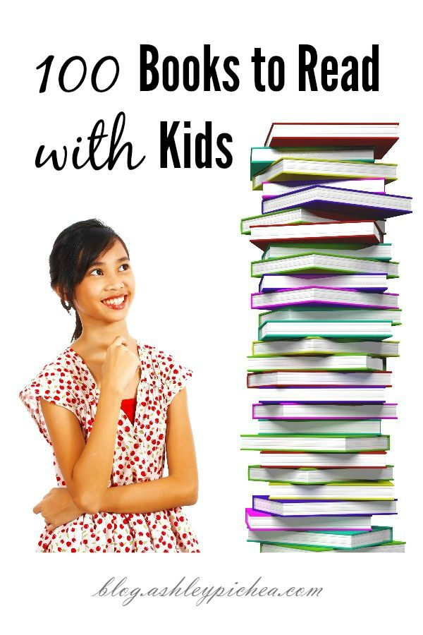 """Reading aloud with my kids is one of my new """"intentional parenting"""" goals, and I recently found a list of 100 books to read with kids that I thought might be a good place to start."""