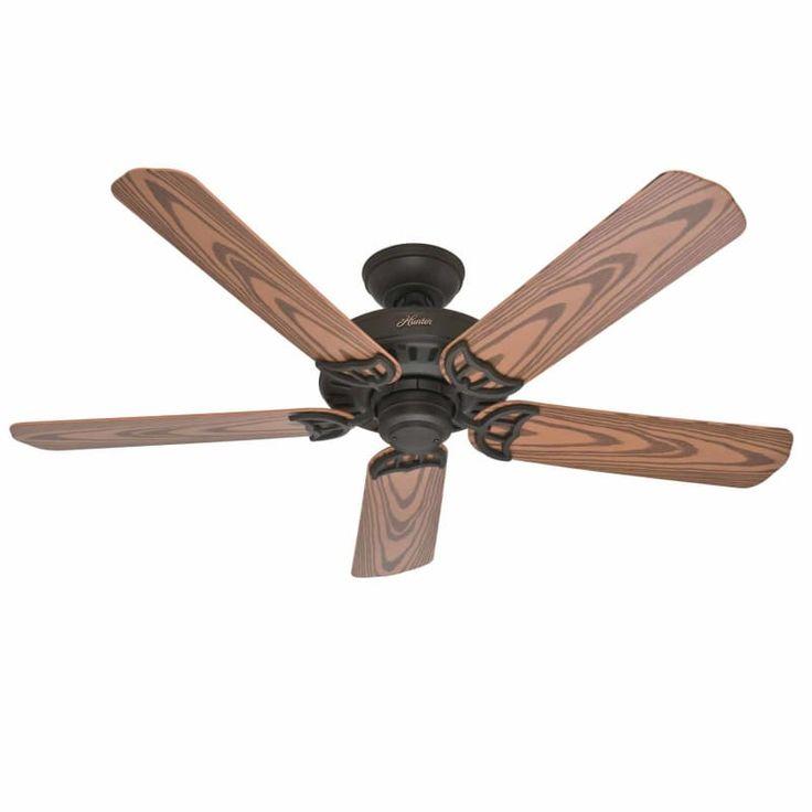 """Hunter Bridgeport 52"""" Energy Star Rated Indoor / Outdoor Ceiling Fan - 5 Blades New Bronze Fans Ceiling Fans Outdoor Ceiling Fans"""
