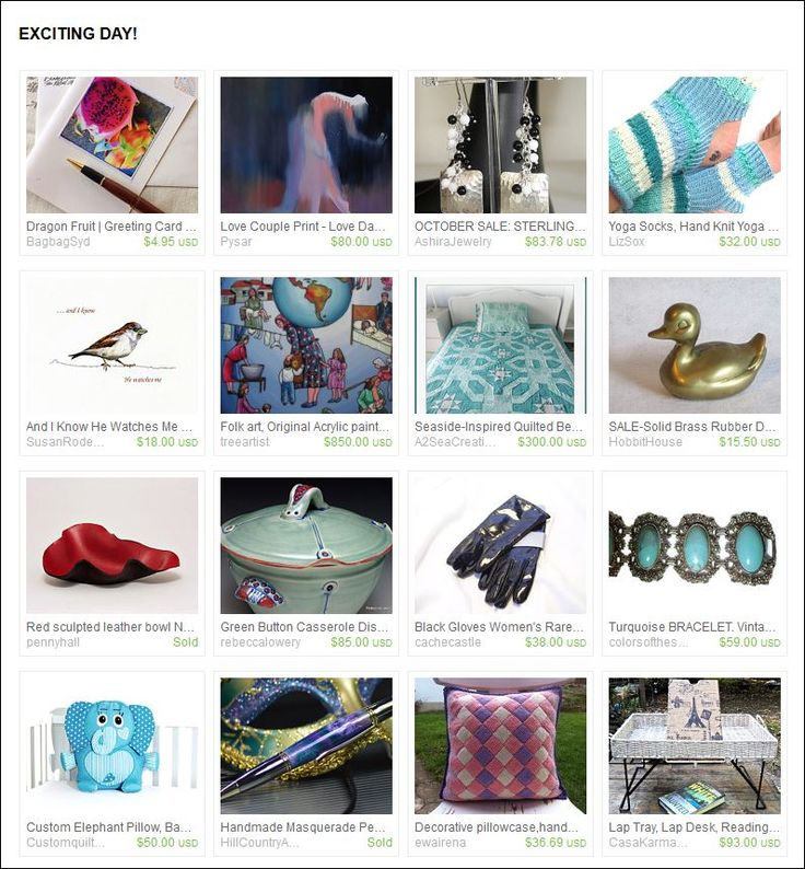 Exciting Day!  Etsy Treasury curated by  Trish Regan from AshiraBeads on Etsy