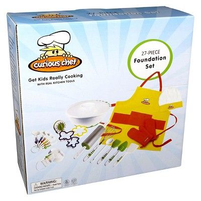 Curious Chef 27pc Foundation Set, White/Green