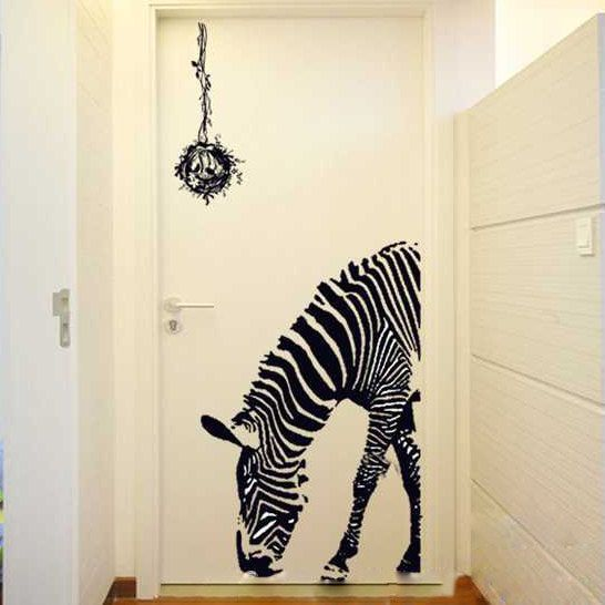 Zebra Wall Decal - Zebra sticker - Zebra decor - Vinyl Wall Stickers Art Graphics, Removable, 166
