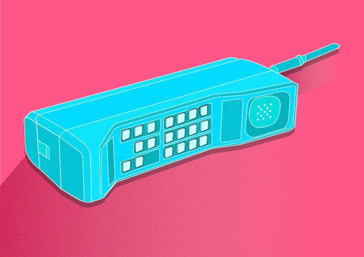 Retro Phone By Erin Erratic