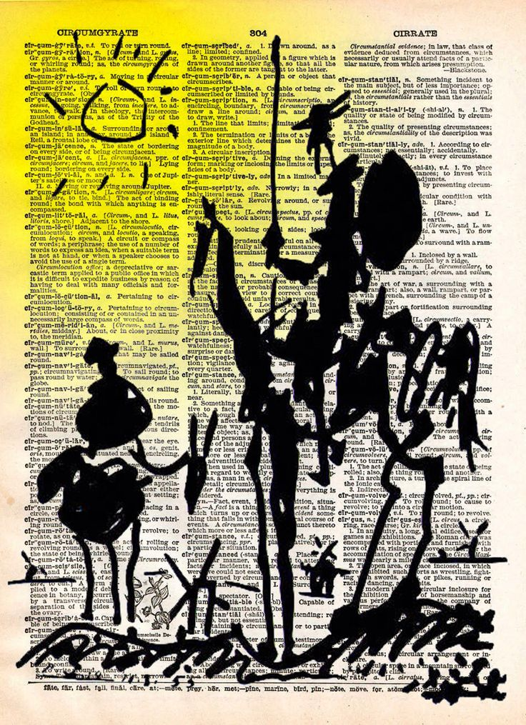 Don Quichotte Print, dessin de Picasso, art dictionnaire vintage imprimé par Loft817 sur Etsy https://www.etsy.com/fr/listing/184901999/don-quichotte-print-dessin-de-picasso