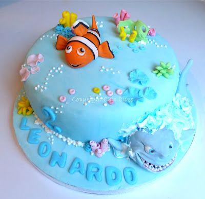 Chic Cake: Torta Nemo e lo squalo