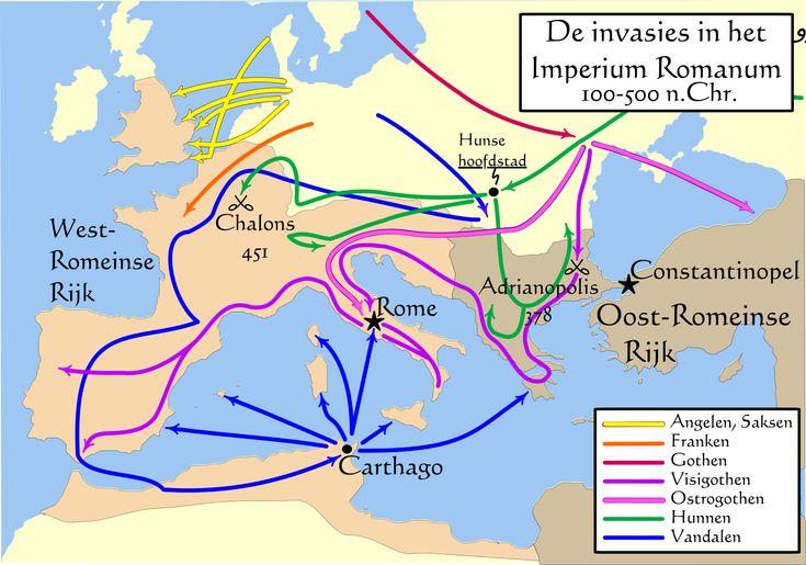 4) De confrontatie tussen de Grieks-Romeinse cultuur en de Germaanse cultuur van Noordwest- Europa