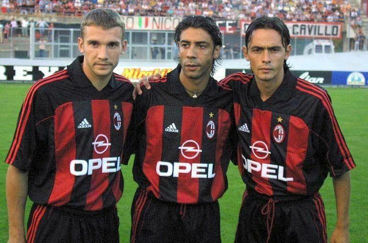 Shevchenko, Rui Costa, Inzaghi #milan