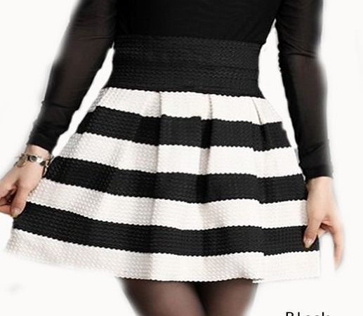 richmondcup New Fashion Womens Wild Retro Flared Hit Color Stitching Striped Mini Skirt Size: S/M, Waist: 66-86cm (25.2-33.9in), Length: 43cm (16.9in) (Barcode EAN = 0533734719172). http://www.comparestoreprices.co.uk/skirts/richmondcup-new-fashion-womens-wild-retro-flared-hit-color-stitching-striped-mini-skirt.asp
