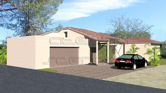 Maison contemporaine de plain pied de 130 m2 avec mezzanine et ...