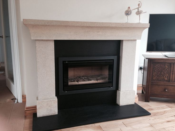 This Belvedere stone fireplace and Stovax Riva Studio 1 stove were recently fitted by Hagley Stoves