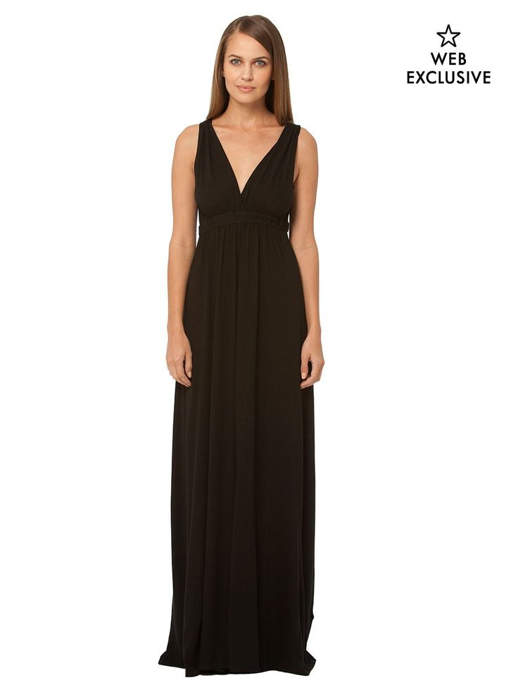 Limited edition deco pleat maxi dress