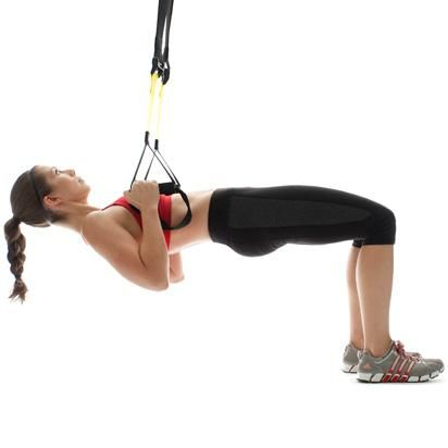 #TRX: Tabletop Row  Works #abs, arms, and #butt!