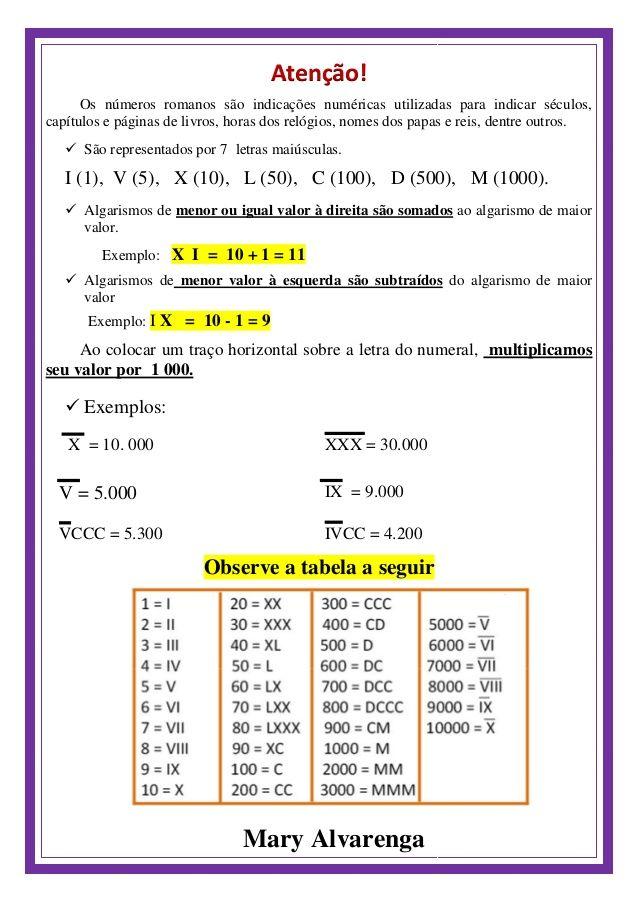 Loteria Numerais Romanos Numeral Romano Loteria Dicas De Ensino