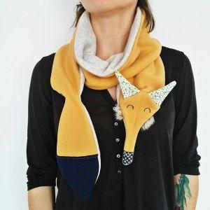 #scraf fox #design #ladystump #fox #handmade #forkids