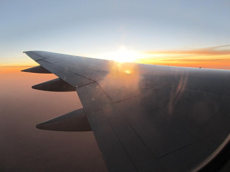 Somewhere over the Pacific..... Airplane view, Aviation